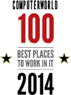 Named One of the 100 Best Places to Work in IT in 2014.