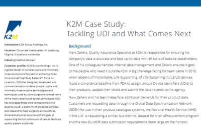 K2M Case Study: Tackling UDI and What Comes Next