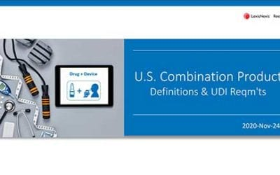When is UDI required for drug-device combination products?